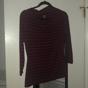Old Navy Red and blue striped shirt